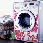 Desenli çamaşır makinesi