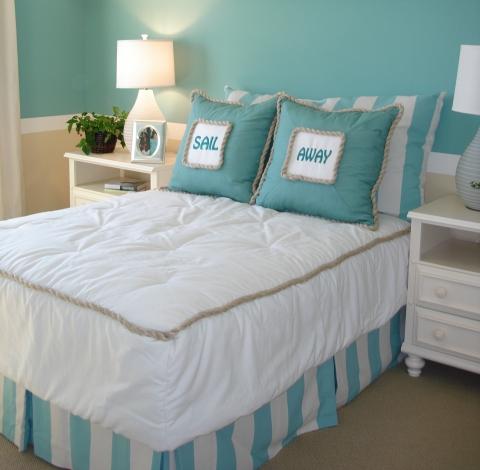 Açık Mavi Yatak Odası