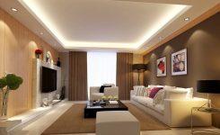 Oturma Odası İçin Alçıpan Asma Tavan Modelleri