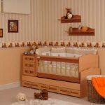 Açık kahve bebek beşiği modelleri