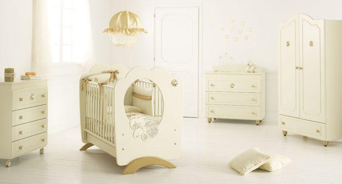 Krem Rengi Bebek Odası Dekorasyonu