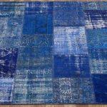 Mavi ve Tonları Patchwork Halı Modeli