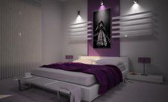 Mor yatak odası takımı modelleri ve dekorasyonu