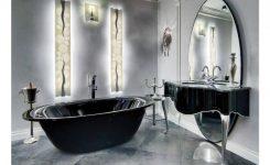 Siyah Beyaz Banyo Fayans Döşeme Modelleri