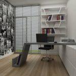 Yeni modern çalışam odası dekorasyonu