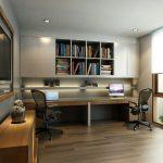Sade modern çalışma odası