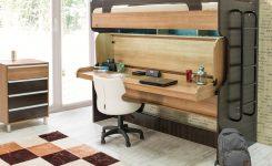Duvara katlanabilir çift katlı ranza yatak modelleri