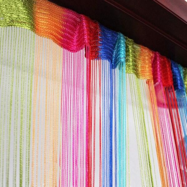 Renkli Dekoratif Kapı Önü Perde Modelleri