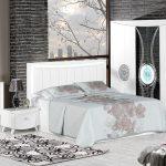 Yeni sezon beyaz yatak odası dekorasyonu