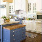 Mavi mutfak tasarımı