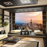 Şehir görünümlü modern 3 boyutlu duvar kağıdı modelleri