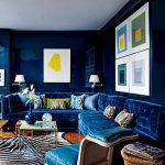 Koyu mürekkep mavisi klasik dekorasyon