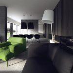 Siyah modern mobilya