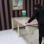 6 kişilik duvara monteli masa modelleri