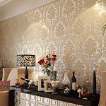 Desenli salon duvar kağıtı modelleri