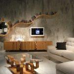 Eskitme salon duvar kağıdı modelleri