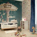 Atlı karıncalı bebek odası 3 boyutlu duvar kağıtları