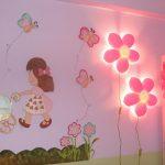 Işıklı Bebek Odası İçin Duvar Süsleri