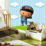 Pepeli bebek odası 3 boyutlu duvar kağıtları