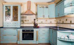 Mavi Mutfak Dolabı Modelleri