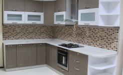 Köşeli mutfak dolapları modelleri