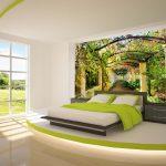 Yatak odası için üç boyutlu duvar kağıdı modelleri