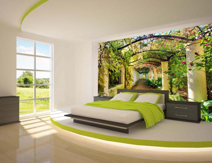 Yatak Odası İçin Üç Boyutlu Duvar Kağıdı Modelleri