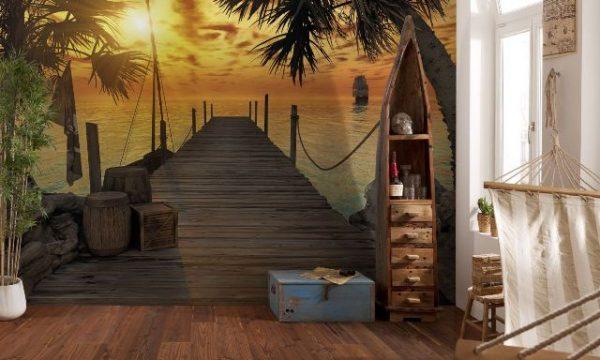 Yeni yatak odası için üç boyutlu duvar kağıdı modelleri