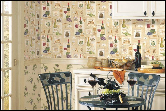 Mutfağa uygun duvar kağıdı