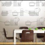 Mutfak duvar kağıdı desenleri