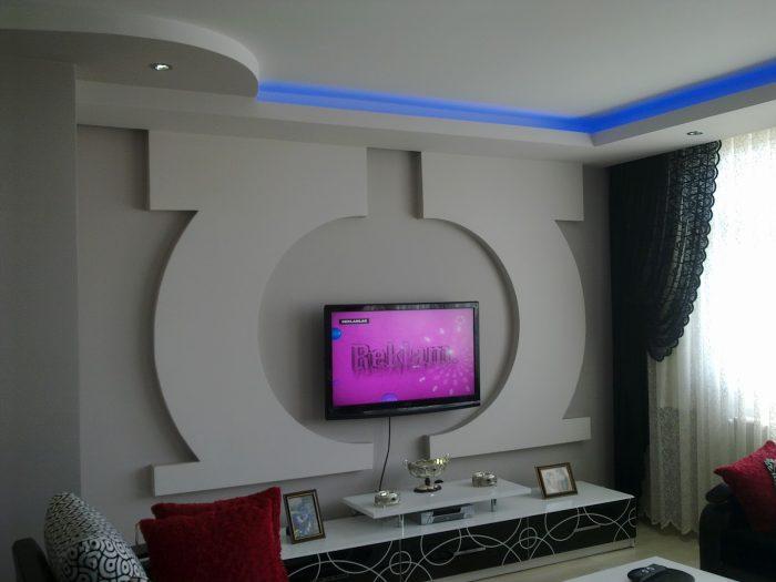 Alçıpan Salon Tv Ünitesi Modelleri