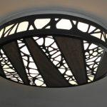 Desenli salon tavan aydınlatma modelleri