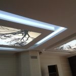 Gergi tavan salon tavan aydınlatma modelleri