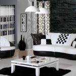 Siyah beyaz oturma odası nasıl dizayn edilir