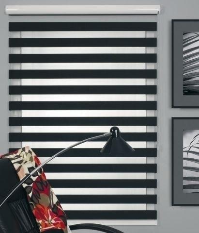 Siyah Beyaz Zebra Stor Perde Modelleri