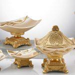Altın Rengi Seramik Salon Aksesuar Setleri
