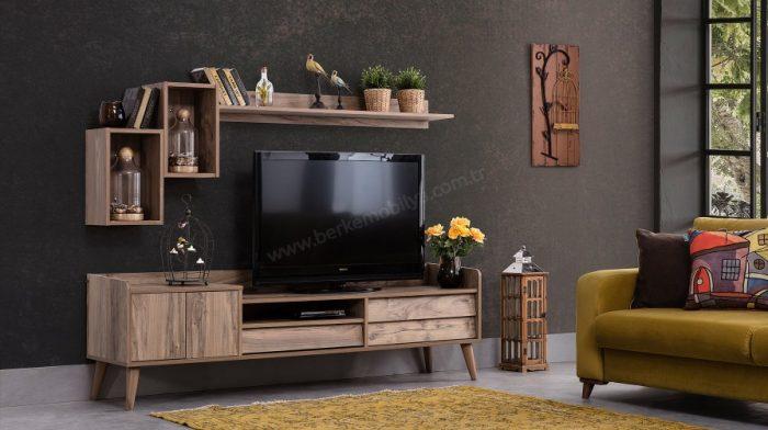 Sade modern tv ünitesi tasarımı