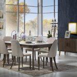 Bellona lantes kahverengi beyaz yemek odası takımı