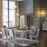 Bellona monreal krem ve beyaz yemek odası takımı