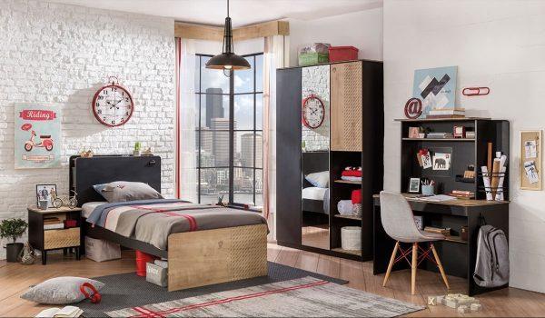 Ahşap siyah çocuk odası tasarımı