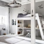 Modern beyaz çocuk odası dizaynı