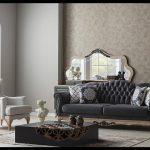 Klasik modern koltuk takımı siyah beyaz
