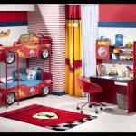 Ranzalı kırmızı çocuk odaları