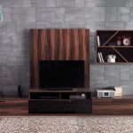 Enza mobilya kahverengi modern tv üniteleri