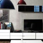 Enza mobilya beyaz siyah modern tv üniteleri