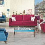 Kilim mobilya kırmızı koltuk takımı