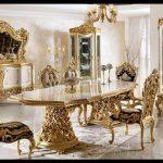 Altın varak yaldız yemek odası