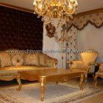 Altın yaldızlı koltuk takımı modelleri 1