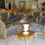 Altın yaldızlı koltuk takımı modelleri 2