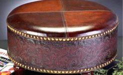 Dekoratif deri puf koltuk tabure modelleri